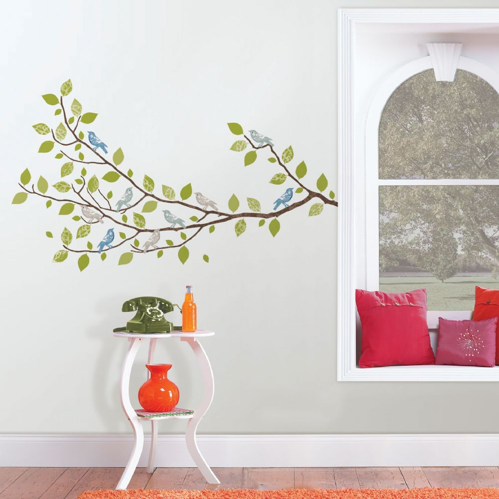 Sitting in a Tree, Branch, Wall Art Sticker Kit